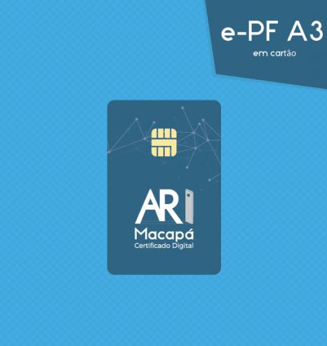 Certificado Digital para Pessoa Física A3 em cartão (e-PF A3)