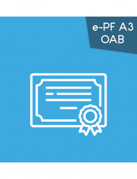 Certificado Digital para OAB (e-PF A3) 3 anos + token